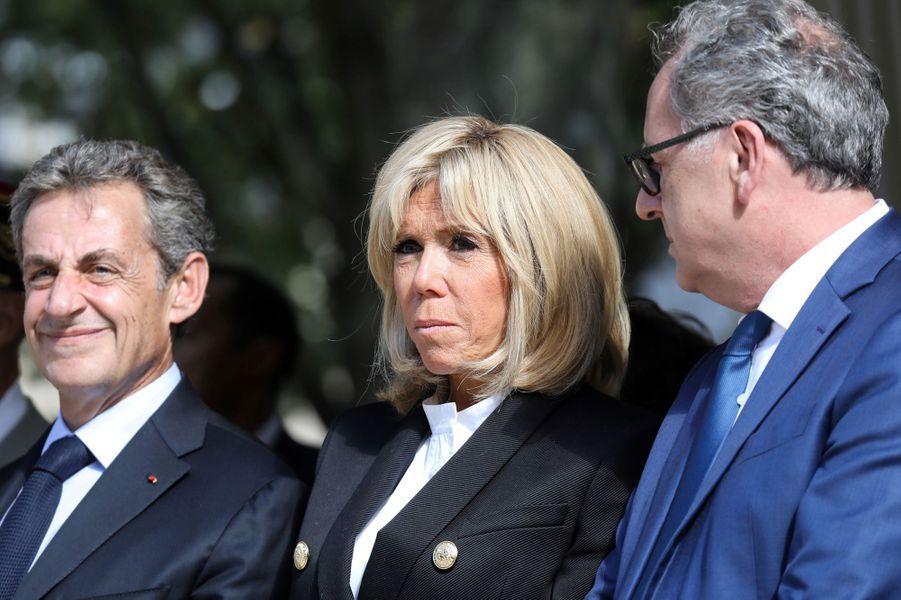Nicolas Sarkozy, Brigitte Macron et Richard Ferrand.
