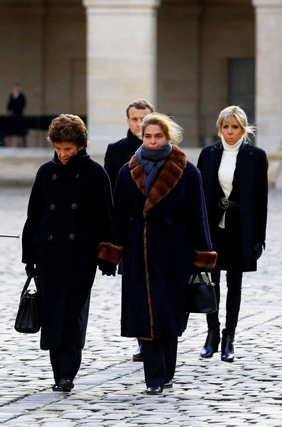 La femme de Jean d'Ormesson, Françoise, et leur filleHeloise.