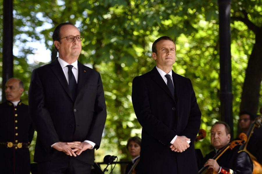 Emmanuel Macron et François Hollande.