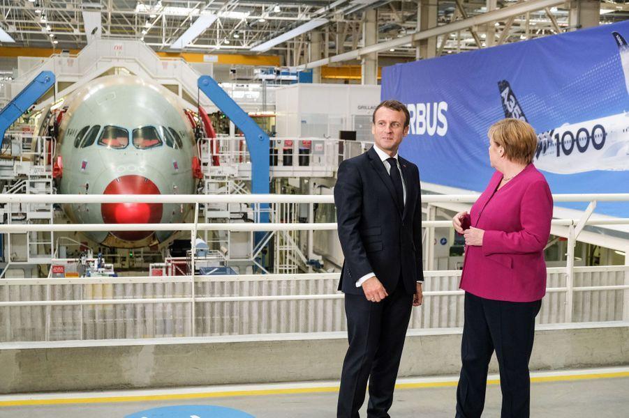 Emmanuel Macron et Angela Merkel le 16 octobre 2019 à Toulouse.