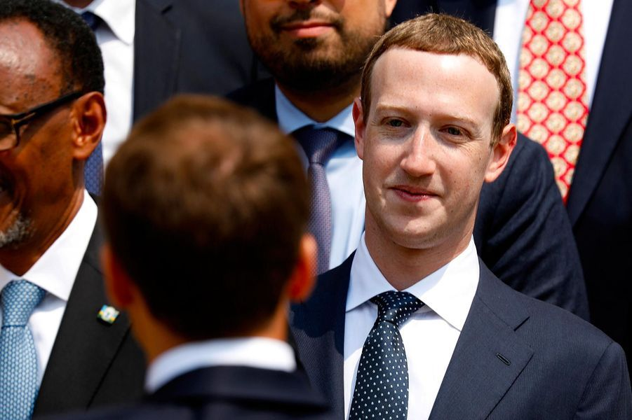 Mark Zuckerberg à l'Elysée, le 23 mai 2018.
