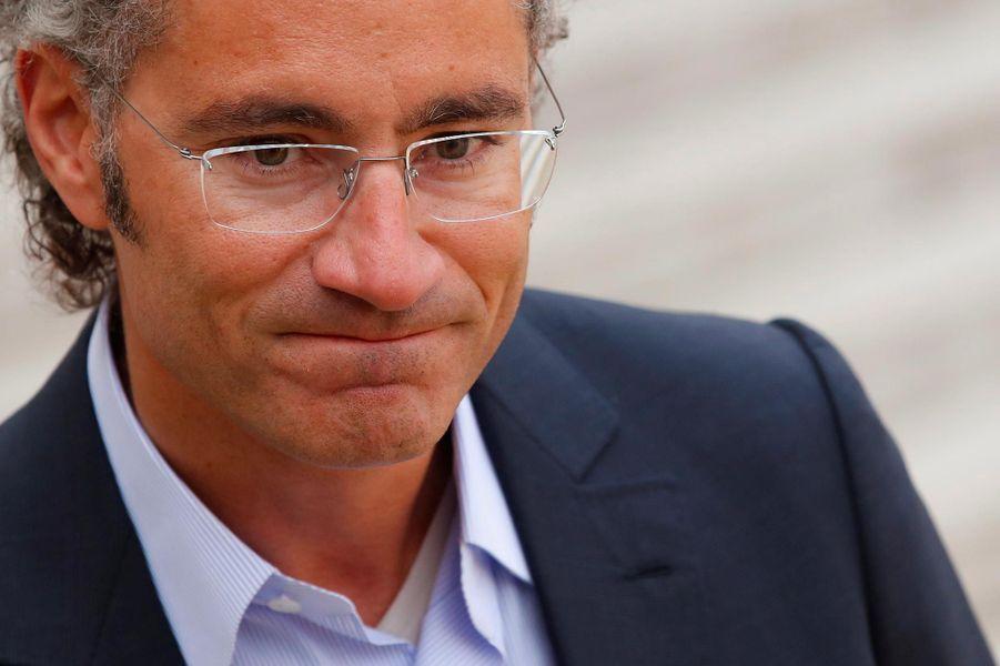 Alex Karp, co-fondateur et PDG de Palantir, à l'Elysée, le 23 mai 2018.