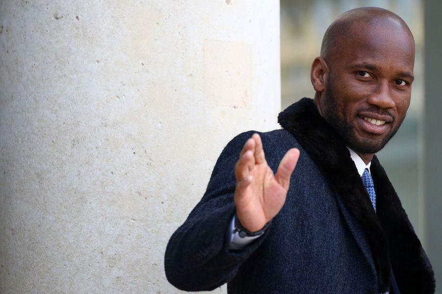 Didier Drogba, mercredi à l'Elysée.