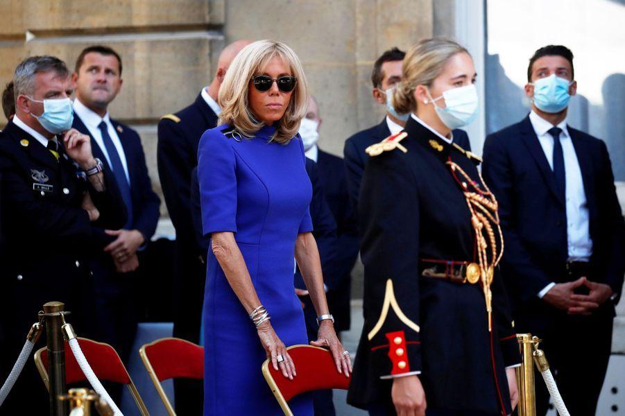 Brigitte Macron lundi à l'Hotel de Brienne.