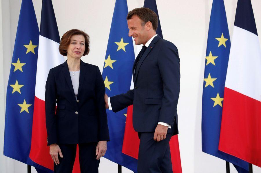Emmanuel Macron et Florence Parly lundi à l'Hotel de Brienne.