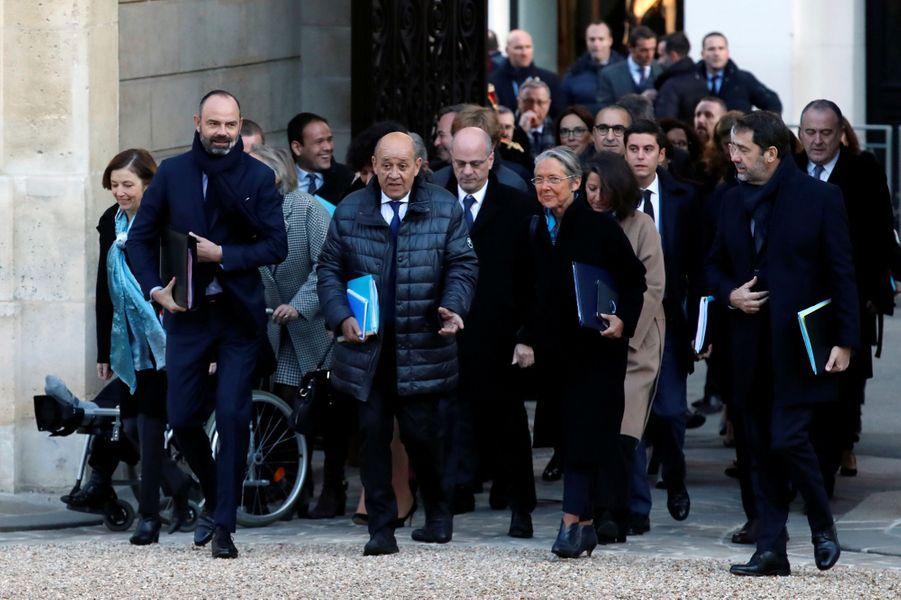 C'est la rentrée de janvier pour le gouvernement. Après un petit-déjeuner place Beauvau, Edouard Philippe et son équipe gouvernementale avaient rendez-vous à l'Elysée pour le premier conseil des Ministres.