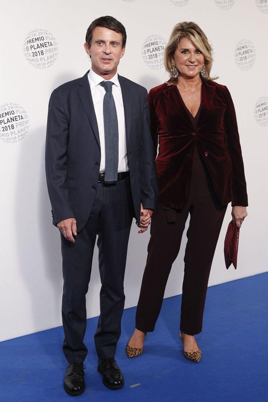 Manuel Valls et Susana Gallardo à la soiréeLos Premios Planeta 2018 Award à Barcelone le 15 octobre 2018