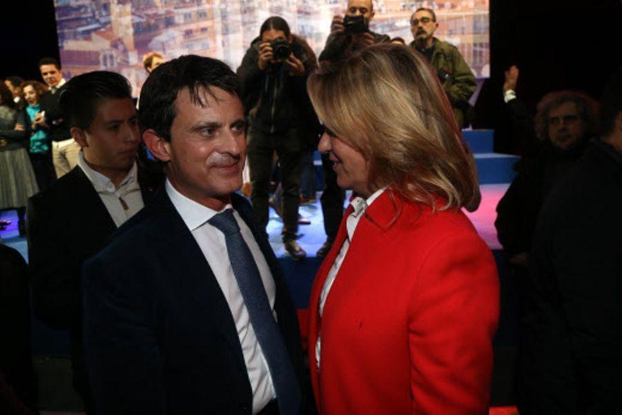 Manuel Valls et Susana Gallardo lors du lancement de la campagne municipale pour la mairie de Barcelone le 13 décembre 2018