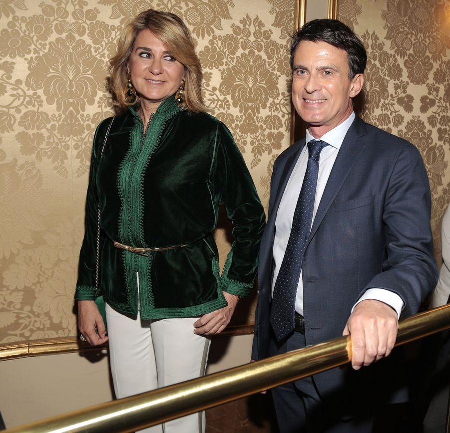Manuel Valls et Susana Gallardo lors du Prix Nadal de littérature à Barcelone le 6 janvier 2019