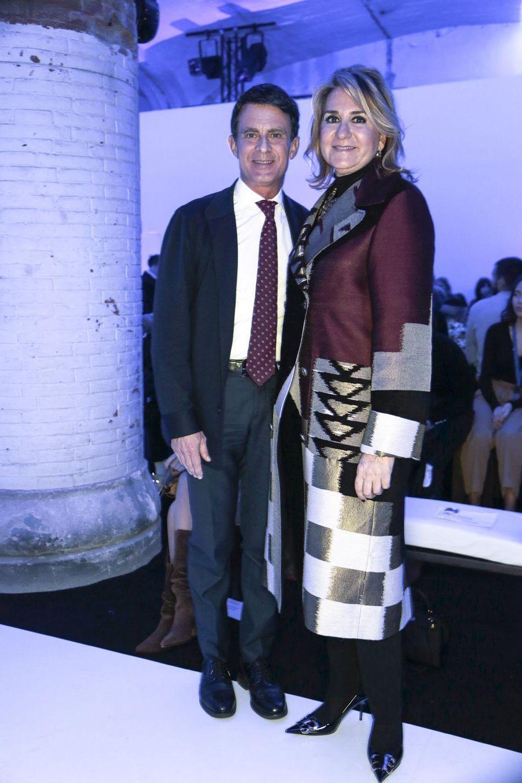Manuel Valls et Susana Gallardo lors de la Fashion Week de Barcelone le 6 février 2019