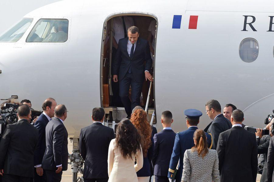 Emmanuel et Brigitte Macron sont arrivés au Maroc mercredi pour une visite de 24 heures
