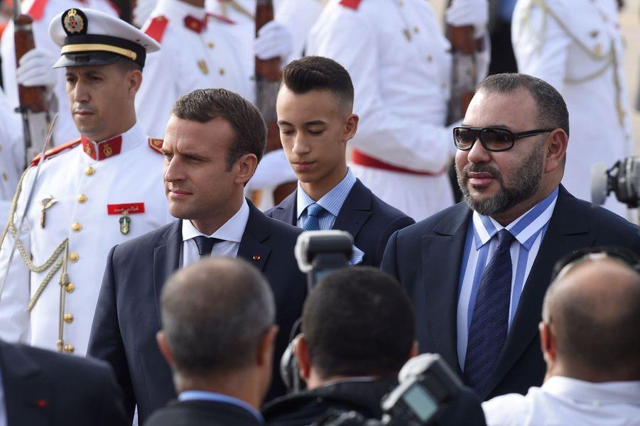Emmanuel Macron et le roi du MarocMohammed VI