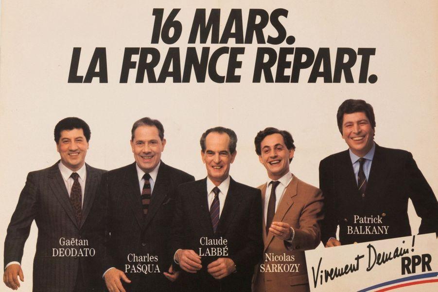 La liste de Charles Pasqua aux législatives de 1986.