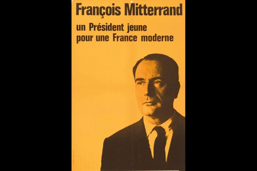 Le candidat Mitterrand à la présidentielle de 1965.