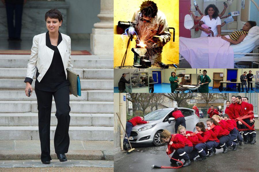 Najat Vallaud-Belkacem (ici à l'Elysée, mercredi) a remis les prix aux lauréats