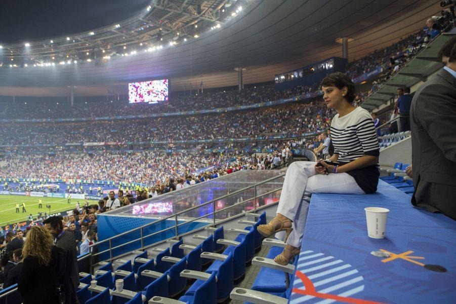 Najat Vallaud-Belkacem, après la fin du match