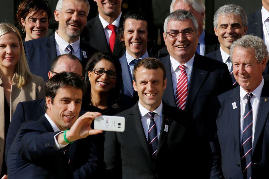 Emmanuel Macron a reçu mardi les membres dela Commission d'évaluation du CIO en vue de l'attribution des JO-2024.