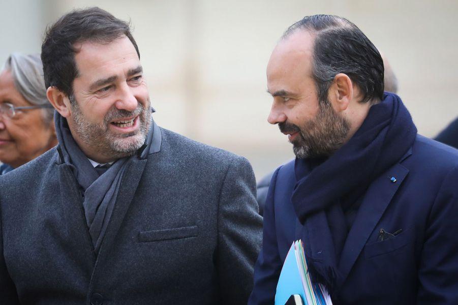 Christophe Castaner et Edouard Philippe.