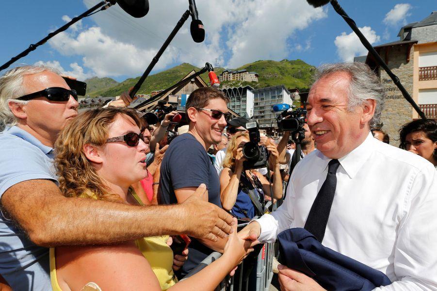 François Bayrou jeudi àBagnères-de-Bigorre.
