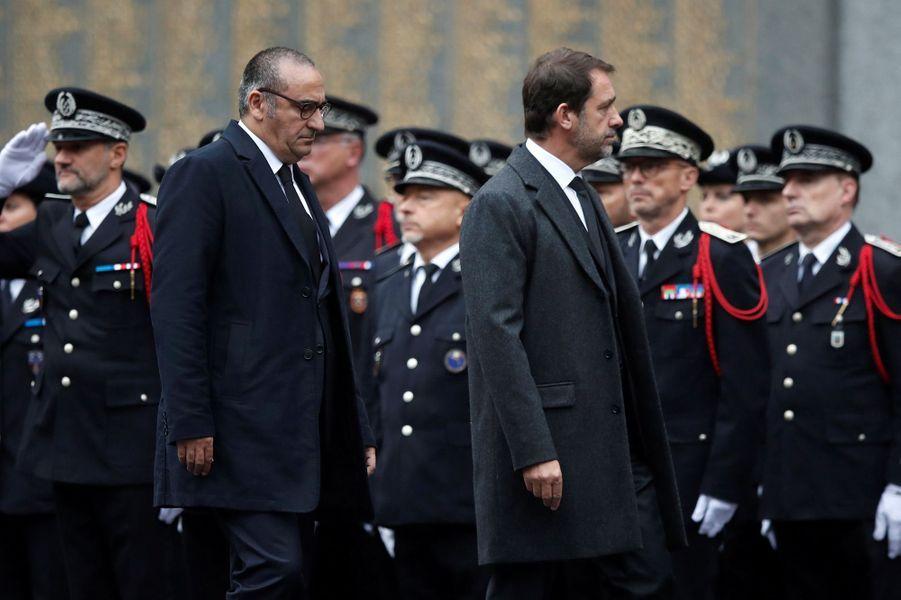 Le ministre de l'Intérieur ChristopheCastaneret son secrétaire d'Etat Laurent Nuñez.