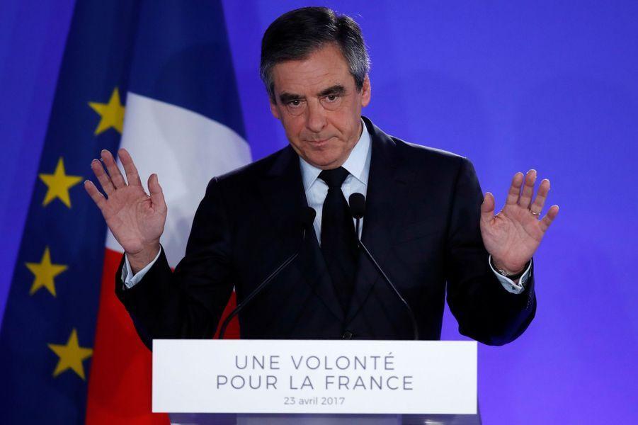 François Fillon, dimanche soir après sa défaite à la présidentielle.