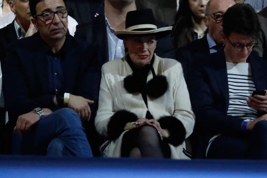 Geneviève de Fontenay, ici au meeting d'Emmanuel Macron à Lyon, le 4 février.