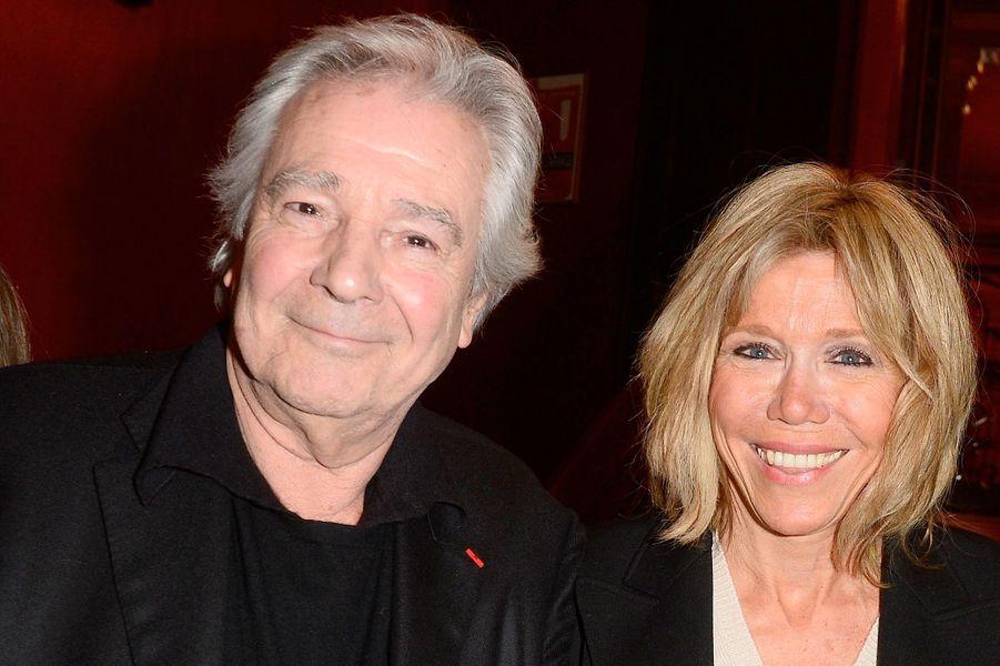 Pierre Arditi et Brigitte Macronau Théâtre Antoine en mars 2016.