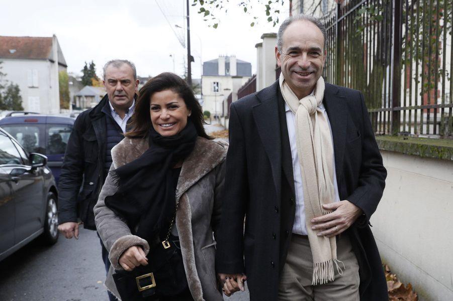 Nadia et Jean-François Copé vont voter à Meaux