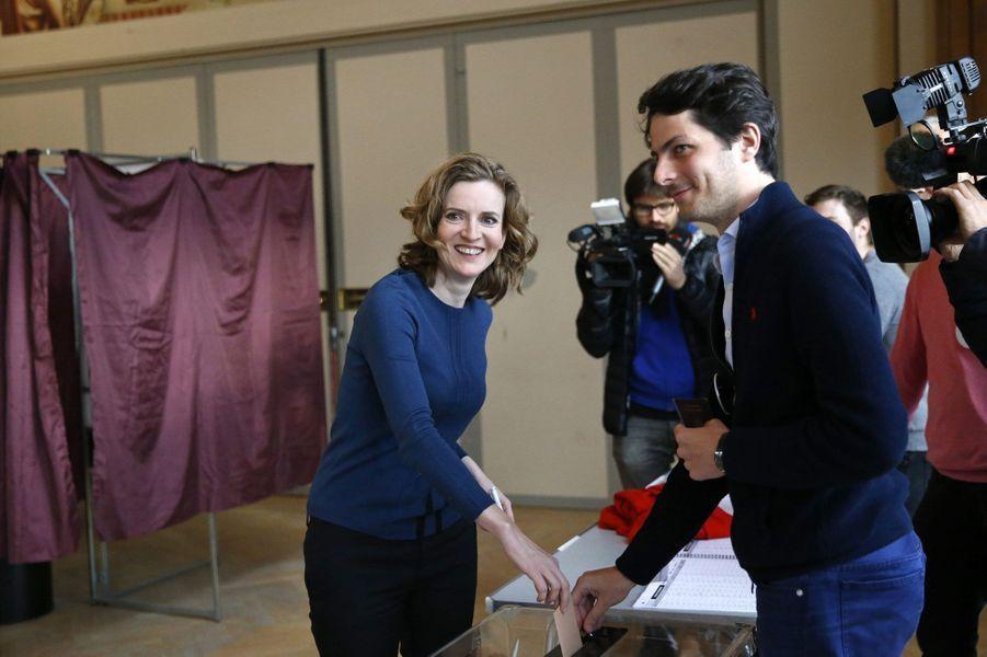 Nathalie Kosciusko-Morizet vote à Paris