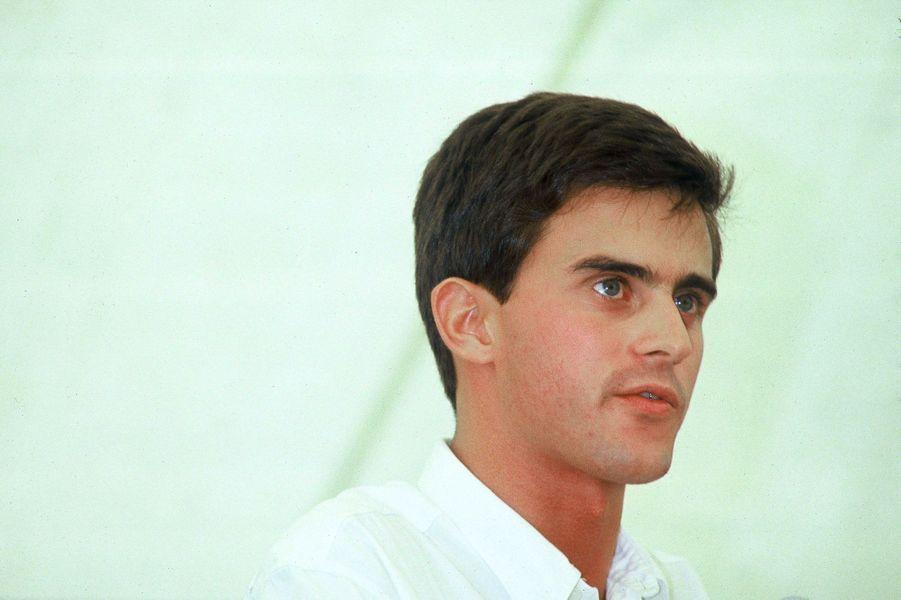 Manuel Valls en septembre 1985 lors de l'université d'été des Jeunes rocardiens, aux Arcs.