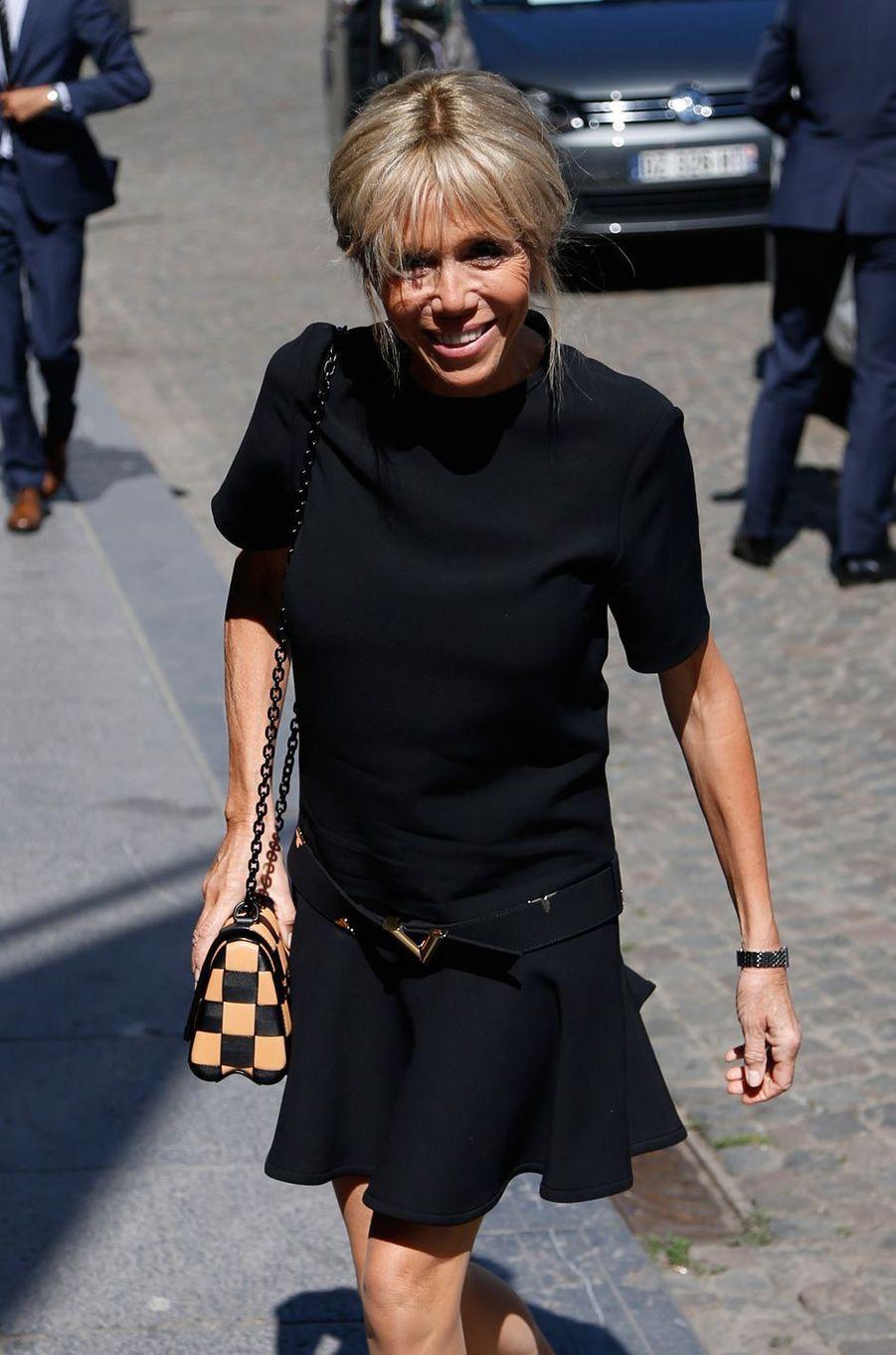 Brigitte Macron à Bruxelles.