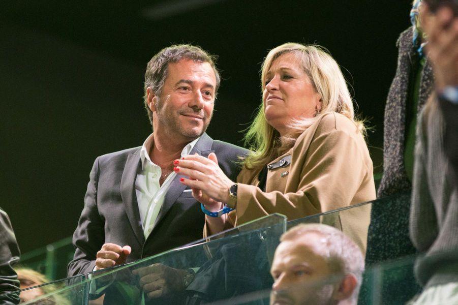 Bernard Montiel au meeting d'Emmanuel Macron à Bercy.