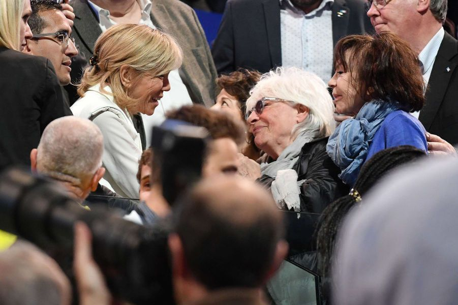 Catherine Lara, au meting de Bercy.