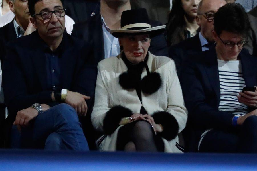 Geneviève de Fontenay, ici au meeting d'Emmanuel Macron à Lyon.