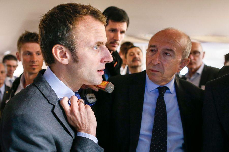 Gérard Collomb, maire PS de LyonLesénateur-maireest l'une desfigures politiques de poids à fairecampagne pour l'ancien ministre de l'Economie. De même,Jean-Marie Girier, son ancien chef de cabinet à la mairie de Lyon, a pris la direction de la campagne présidentielle d'Emmanuel Macron.