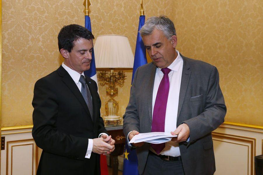 Pascal Terrasse,député de l'ArdècheLe député de l'Ardèche, ici en février 2016 avec Manuel Valls, est l'un des fidèles de l'ex-patron de Bercy.