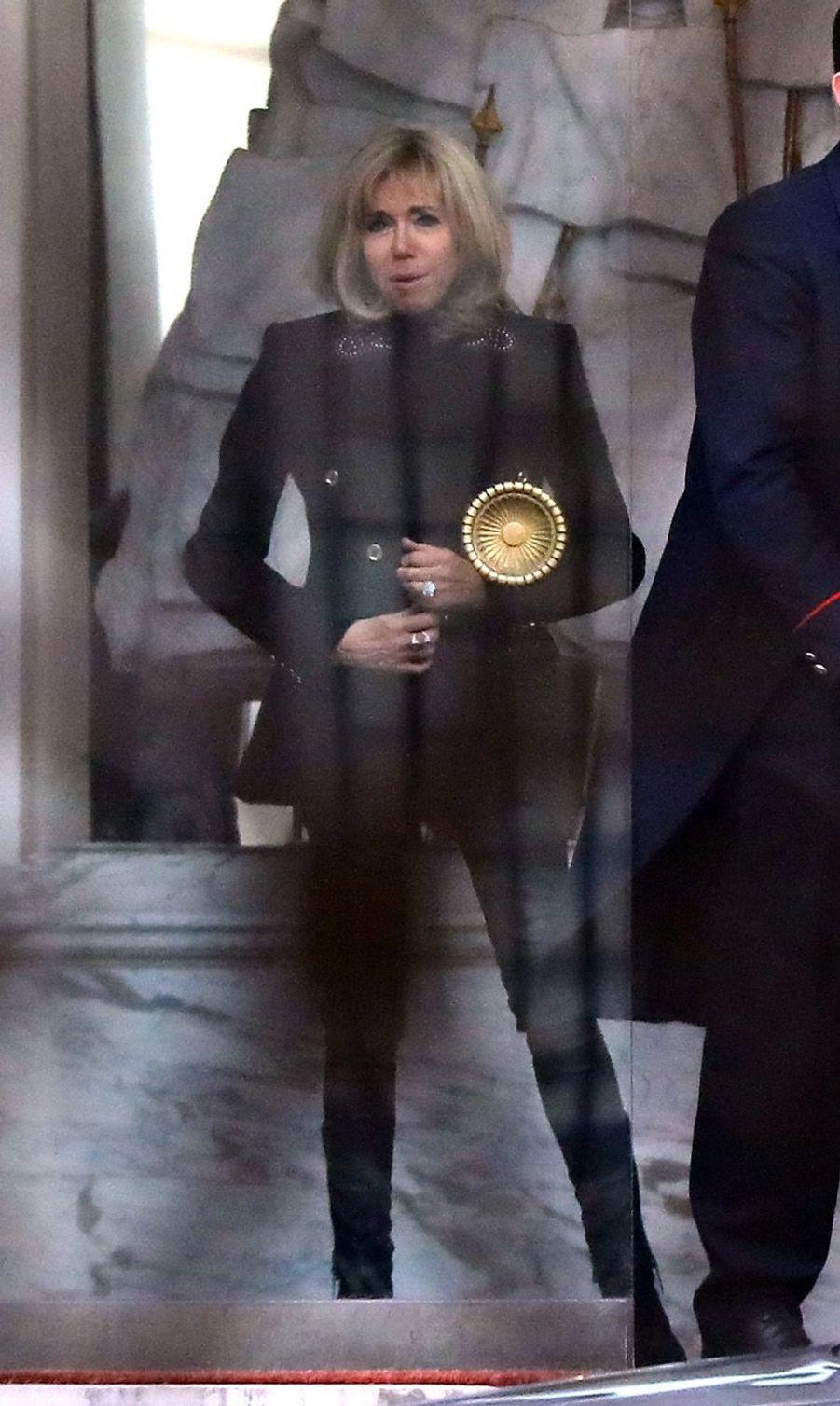 Brigitte Macron jeudi au palais présidentiel.