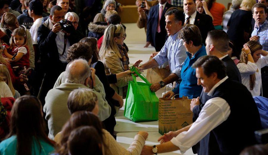 Le geste de Mitt Romney a été très apprécié.