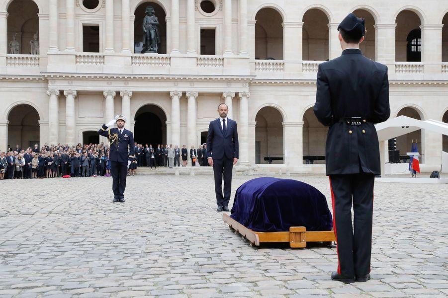 Edouard Philippe aux obsèques de Serge Dassault.
