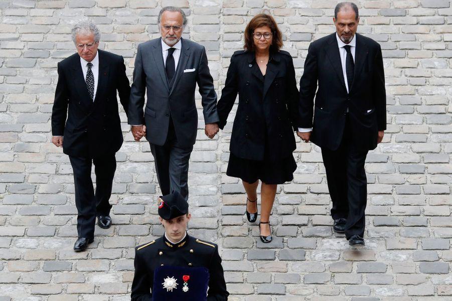 Laurent et Olivier Dassault, Marie-Helene Habert-Dassault et Thierry Dassault.