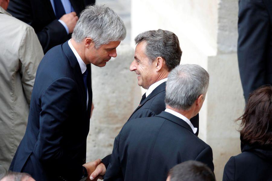 Laurent Wauquiez et Nicolas Sarkozy.