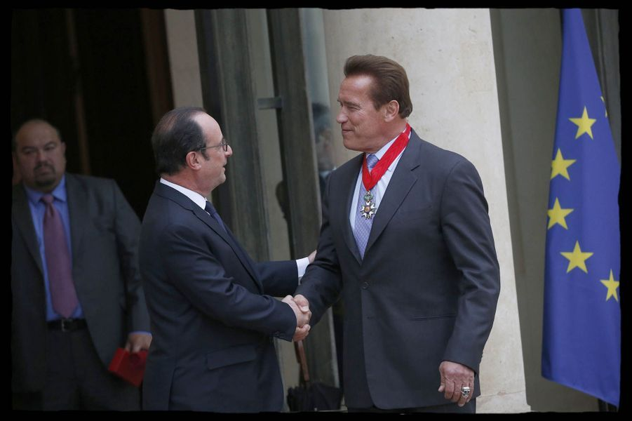 Arnold Schwarzenegger à l'Elysée.
