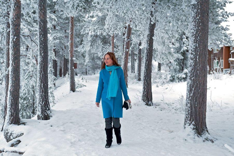 Ségolène Royal dans la forêt d'Inari, berceau du peuple sami, le 17 novembre.