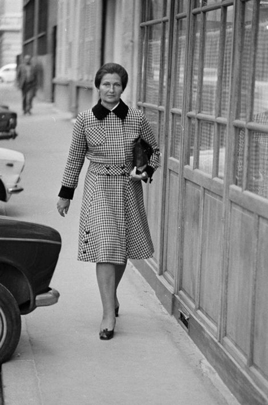 Simone Veil à Paris, le 29 mai 1974