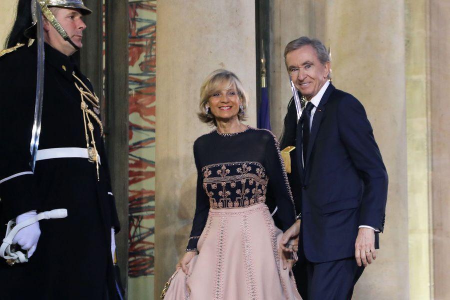 Bernard Arnault,PDG de LVMH, et son épouse la pianiste Hélène Mercier-Arnault.