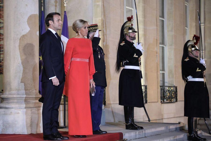 Emmanuel et Brigitte Macron.