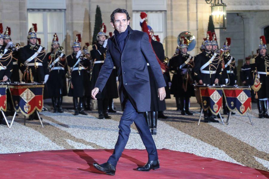 Alexandre Bompard à l'Elysée lundi soir.