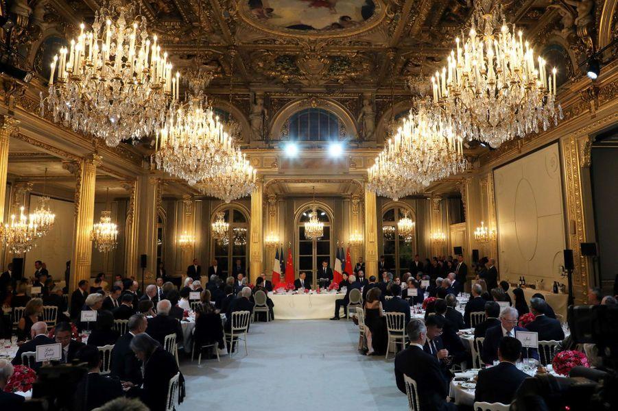 Dîner d'Etat à l'Elysée en l'honneur du président chinois.