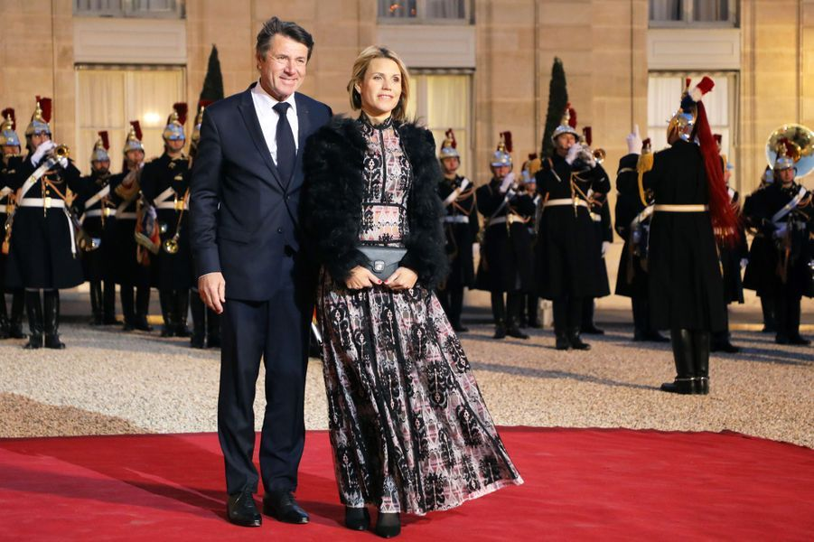 Christian Estrosi et son épouse Laura Tenoudji.
