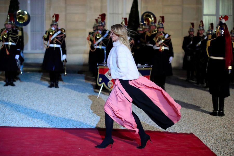 Delphine Arnault à l'Elysée, lundi soir.